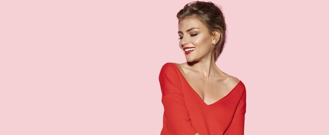 woman happy and feel confident