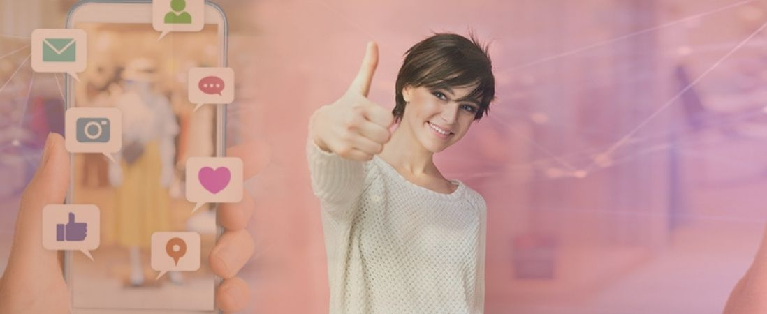 Two thumbs up in social media personal brand