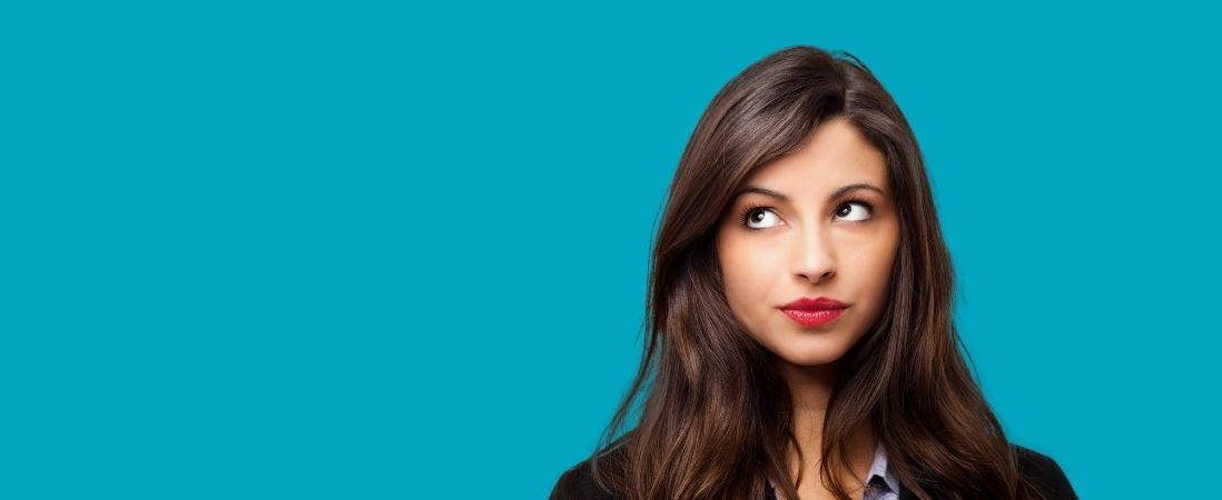 woman thinking her personal brand voice